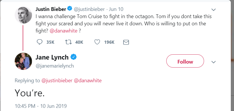 Justin Bieber challenges Tom Cruise for fight and whole internet trolls Bieber