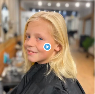 A boy spent 2 year growing hair so that he can donate to make a wig for a child with cancer