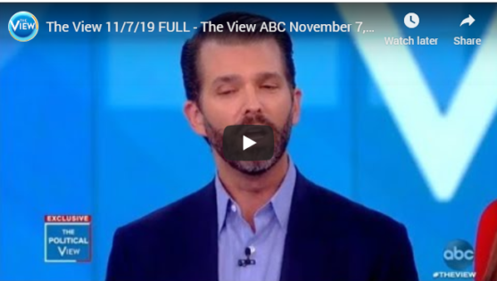 Watch full episode of the view with Don Jr