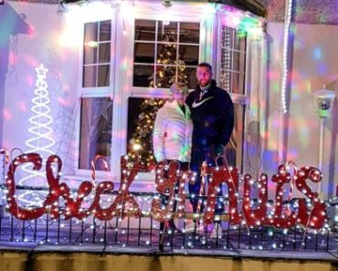 A Cancer Survival Man uses 'Check Your Nuts' Decoration Light to share Awareness