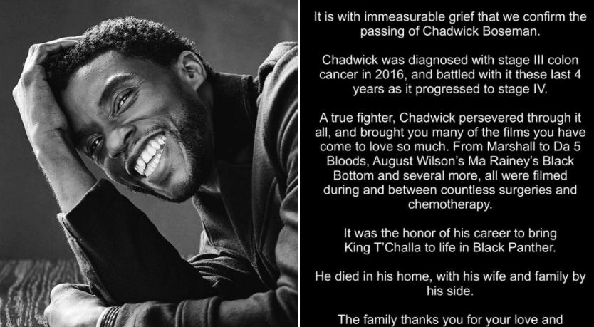 chadwick boseman died